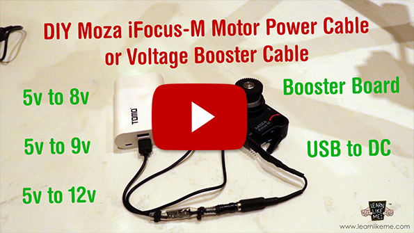 DIY iFocus-M Power Cable image YouTube link