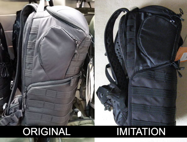 Lowepro Protactic 450 AW Backpack Ribbing Comparison