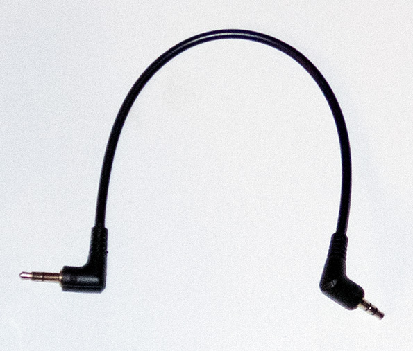 Short 3.5 inch jack cable